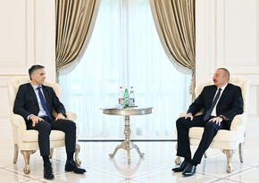 President Ilham Aliyev receives Chief Executive Officer and other senior officials of Signify