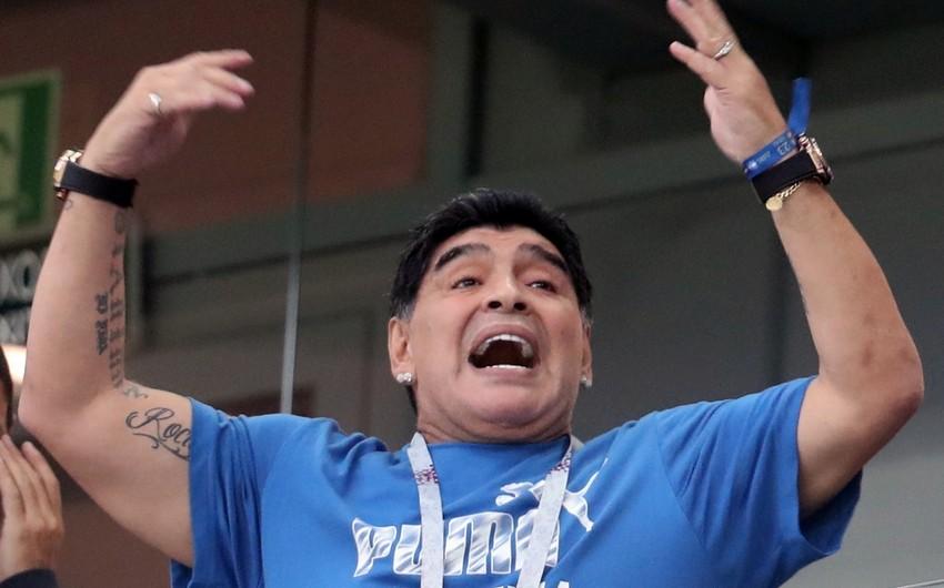 Dieqo Maradona xəstəxanaya yerləşdirildiyinə dair xəbərləri təkzib edib
