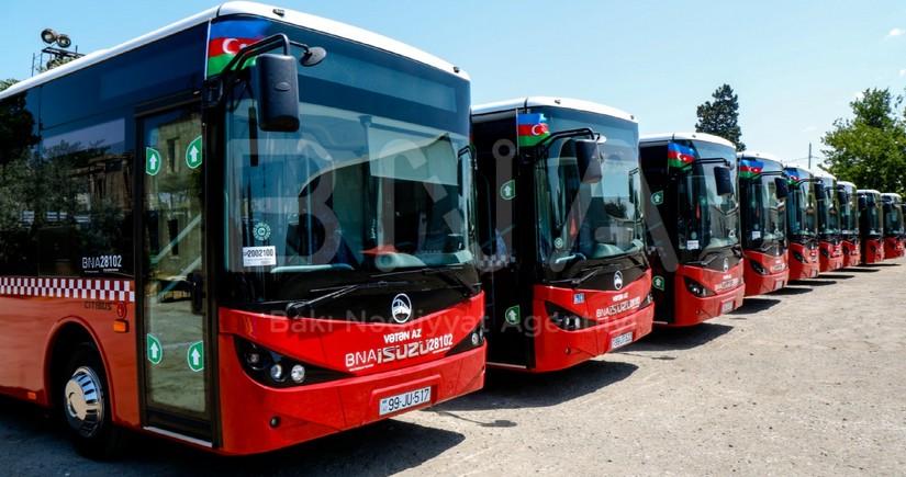 Движение 7 маршрутных линий в пригородах Баку временно изменено