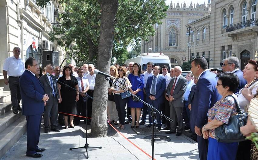 BDU-nun ilk azərbaycanlı rektorunun barelyefinin açılışı olub