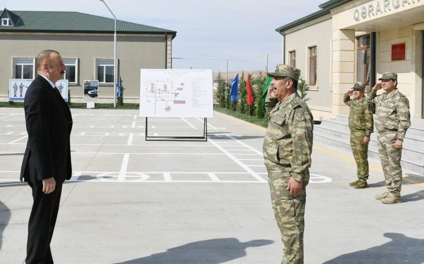 Верховный главнокомандующий принял участие в открытии Н-ской воинской части Минобороны