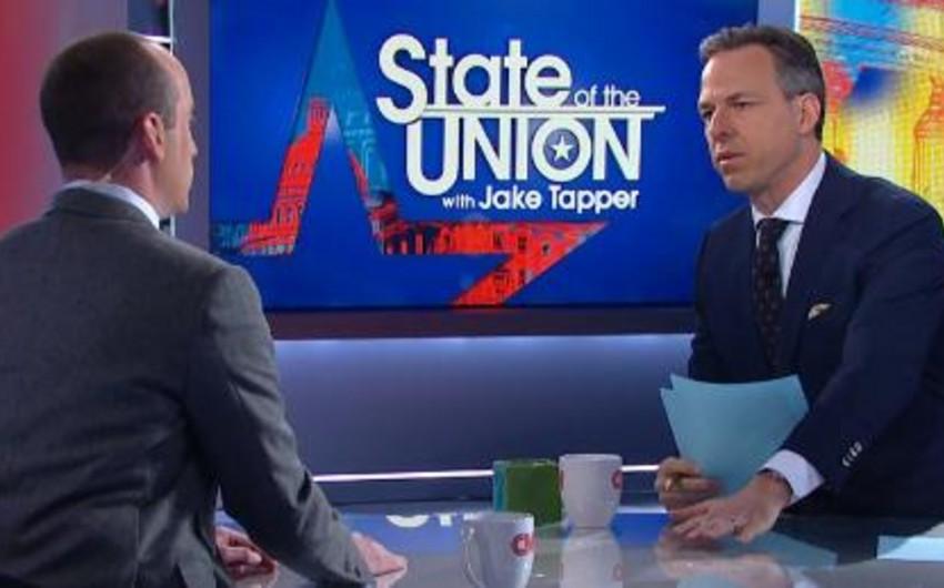 CNN-in aparıcısı Trampın müşaviri ilə müsahibəni mübahisə səbəbindən dayandırıb - VİDEO