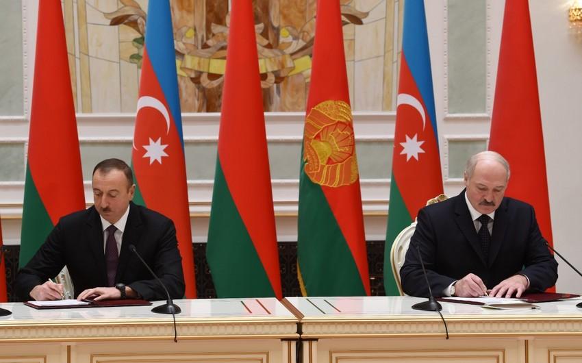 Azərbaycanla Belarus arasında bir sıra sənədlər imzalanıb