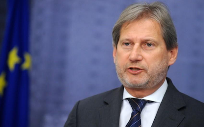 Комиссар ЕС по политике соседства и расширению посетит Азербайджан