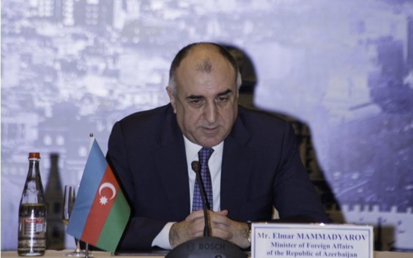 Elmar Məmmədyarov BƏƏ-nin xarici işlər üzrə dövlət nazirini qəbul edib