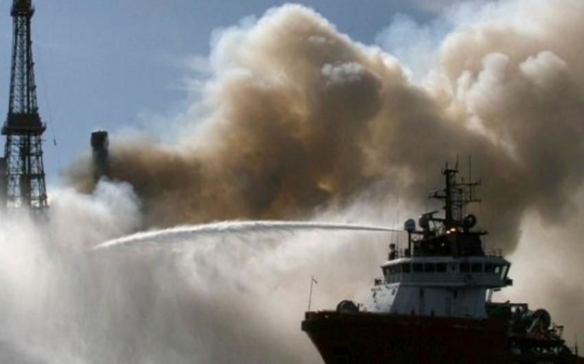 Commander of ship involved in fire-fighting at 'Guneshli' rig dies - PHOTO