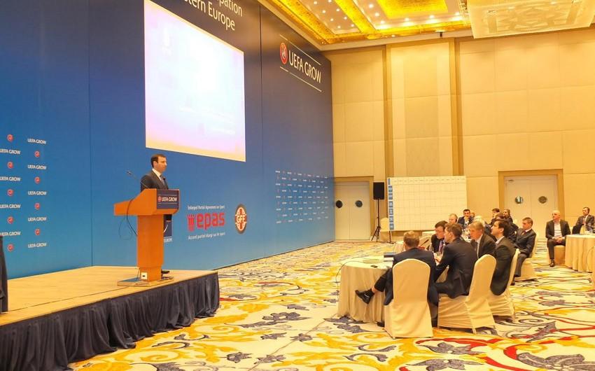 Официальные представители АФФА принимают участие в проходящем в Тбилиси саммите UEFA GROW
