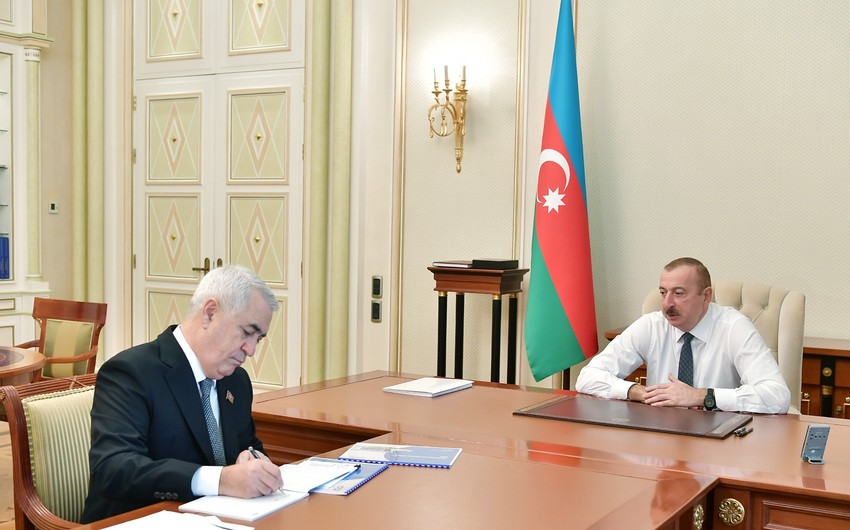 President Ilham Aliyev received chairman of Azerbaijan Railways Closed Joint Stock Company