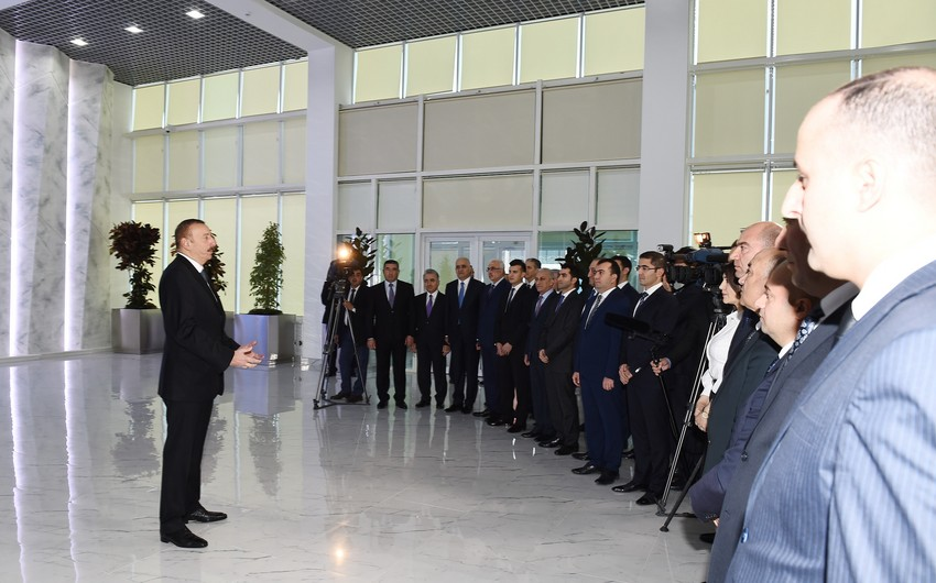 Ilham Aliyev: $ 2.7 bln planned to invest in Sumgayit Chemical Industrial Park