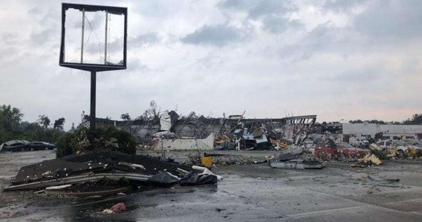 ABŞ-da güclü qasırğa binaları dağıdıb, bir neçə nəfər xəsarət alıb