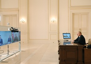 Ilham Aliyev receives Minister of Foreign Affairs and Trade of Hungary in video format