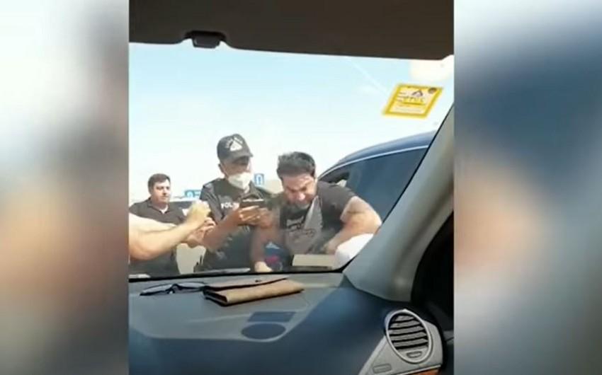 DİN: Kamil Zeynallı digər sürücü ilə yol üstündə dava edib