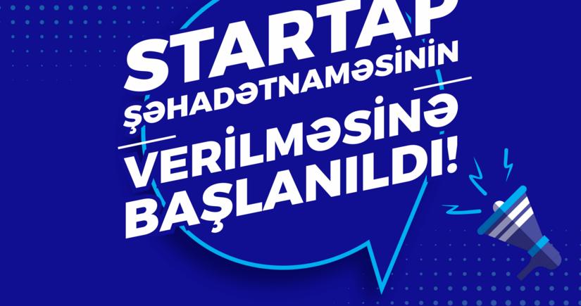 """""""Startap"""" şəhadətnaməsi üçün müraciətlərin qəbuluna başlanıldı"""