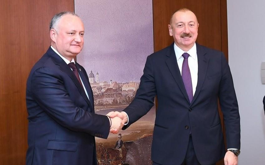 Президент Молдовы поздравил Ильхама Алиева