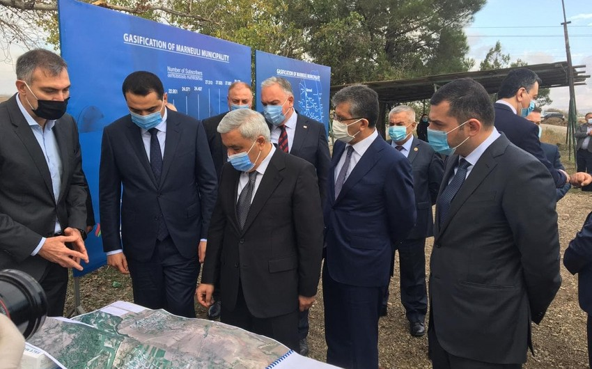 SOCAR Gürcüstanda azərbaycanlıların yaşadığı kəndlərə qaz xətləri çəkir