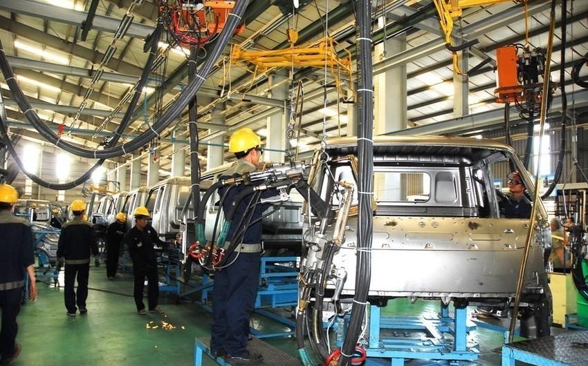 Azərbaycanda sənaye istehsalı 1,4% artıb