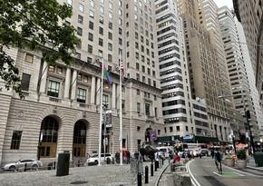 В Нью-Йорке поднят государственный флаг Азербайджана