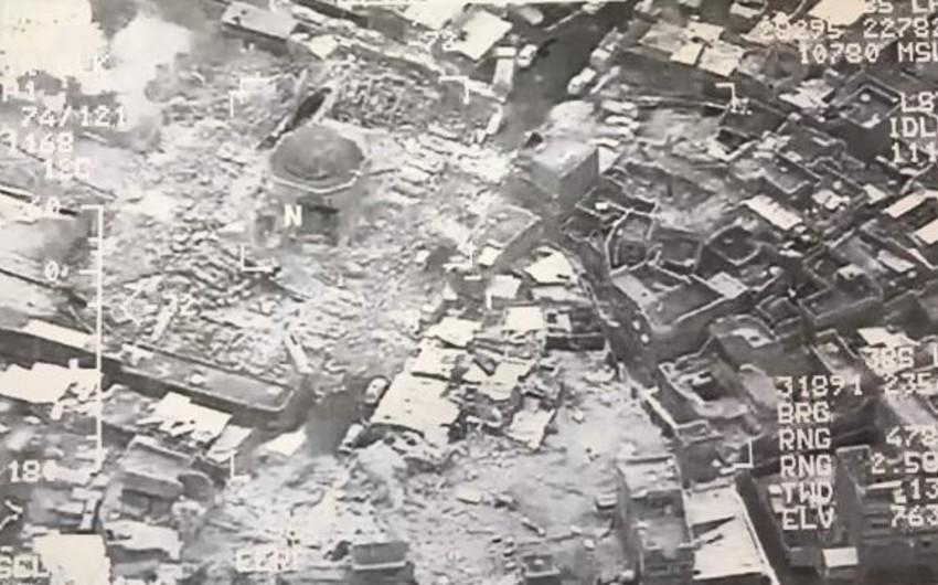 İŞİD terrorçuları Mosulun Cümə məscidini partladıblar - FOTO