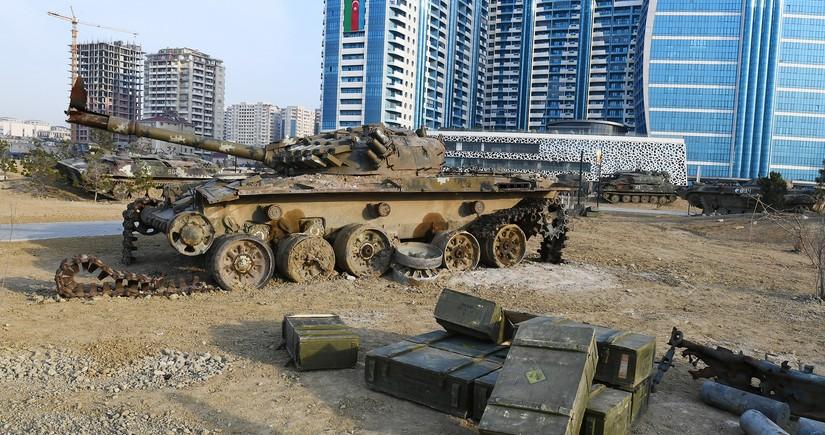 В Парке военных трофеев собраны около 150 единиц тяжелой техники и танков противника