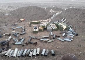 Cəbhəboyu ərazilərdə partlamamış hərbi sursat, minalar aşkarlandı