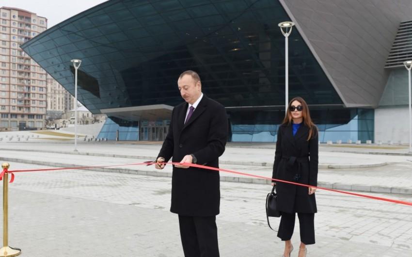 Президент Ильхам Алиев принял участие в открытии нового парка в Баку - ОБНОВЛЕНО