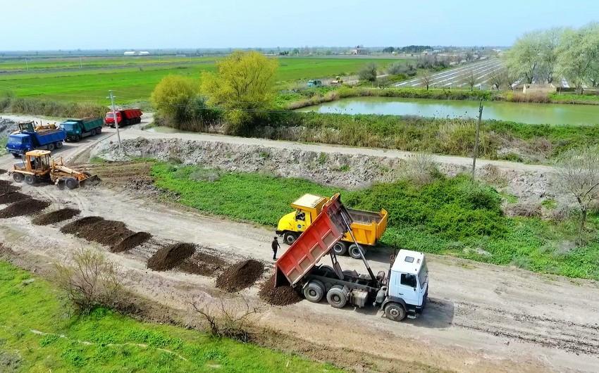 Salyan rayonunda 5 kəndin yolu yenidən qurulur