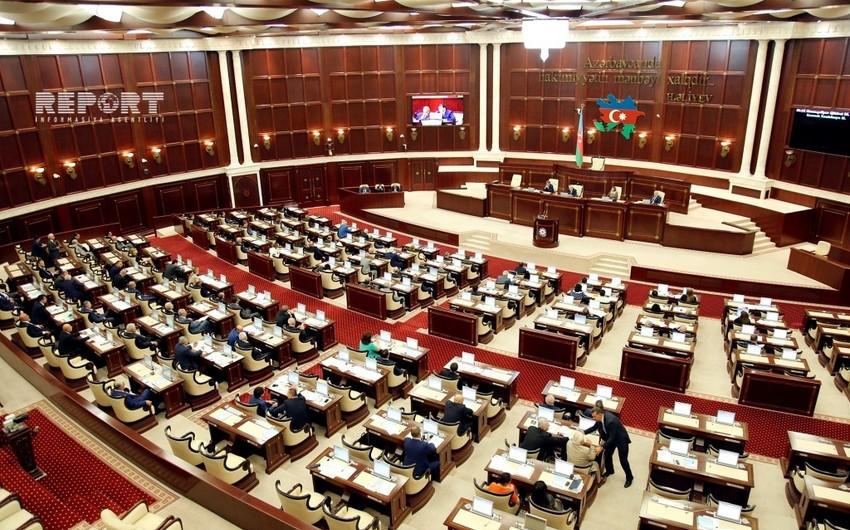 Milli Məclisin yaz sessiyasının ilk plenar iclasının gündəliyi açıqlanıb