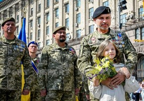 Solemn parade on Independence Day held in Ukraine
