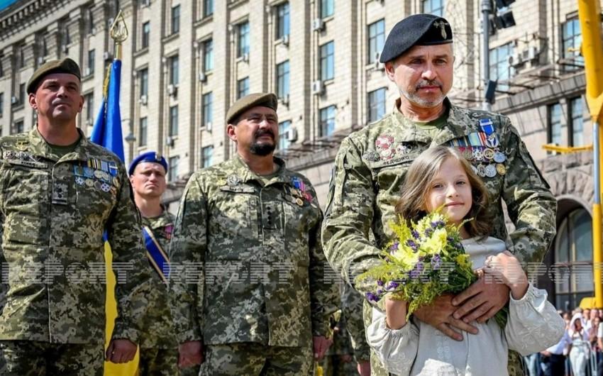 Ukraynada Müstəqillik Günü ilə bağlı təntənəli parad keçirilib