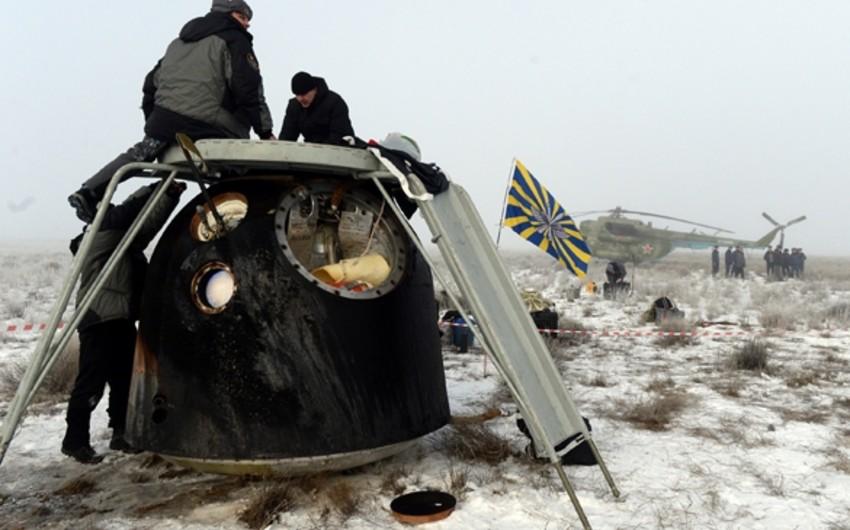 В Казахстане приземлилась капсула с тремя космонавтами