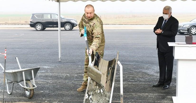 Президент заложил фундамент города Физули