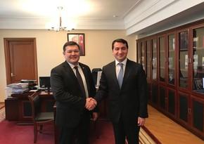 Хикмет Гаджиев обсудил вопросы сотрудничества с замминистра Казахстана