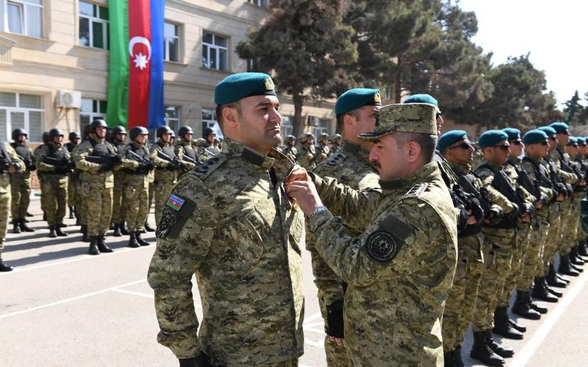 Азербайджанским пограничникам вручены ордена и медали