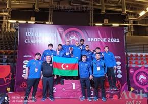 Азербайджанские вольные борцы стали третьими в Европе