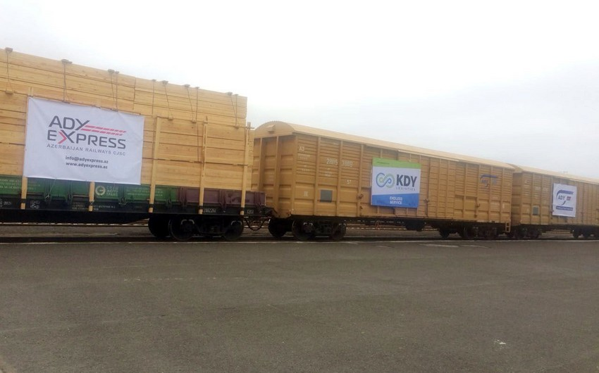 First trial freight train sent from Russia to Iran through Azerbaijan