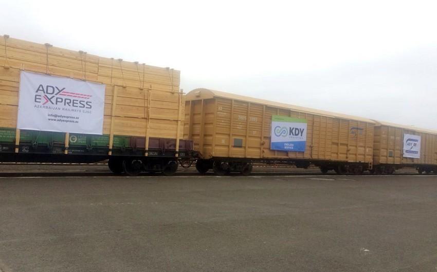 Первый тестовый грузовой поезд отбыл из России в Иран через Азербайджан