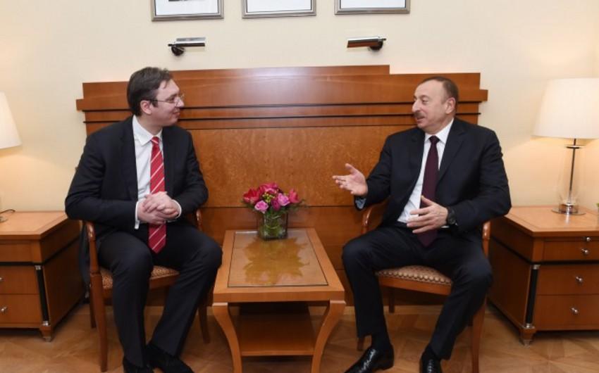 Президент Ильхам Алиев встретился с премьер-министром Сербии