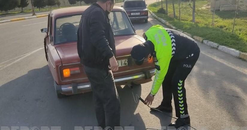 Goranboyda DYP reyd keçirib, 15 sürücü cərimələnib