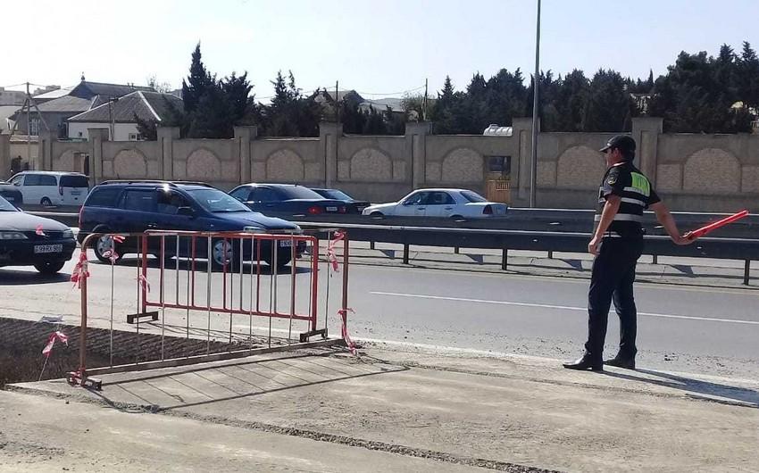 Движение автомобилей на трассе Баку-Сумгайыт частично ограничено