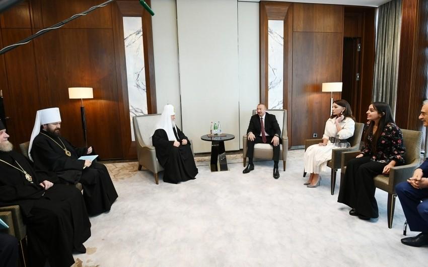 Президент Азербайджана Ильхам Алиев встретился с патриархом Московским и всея Руси Кириллом