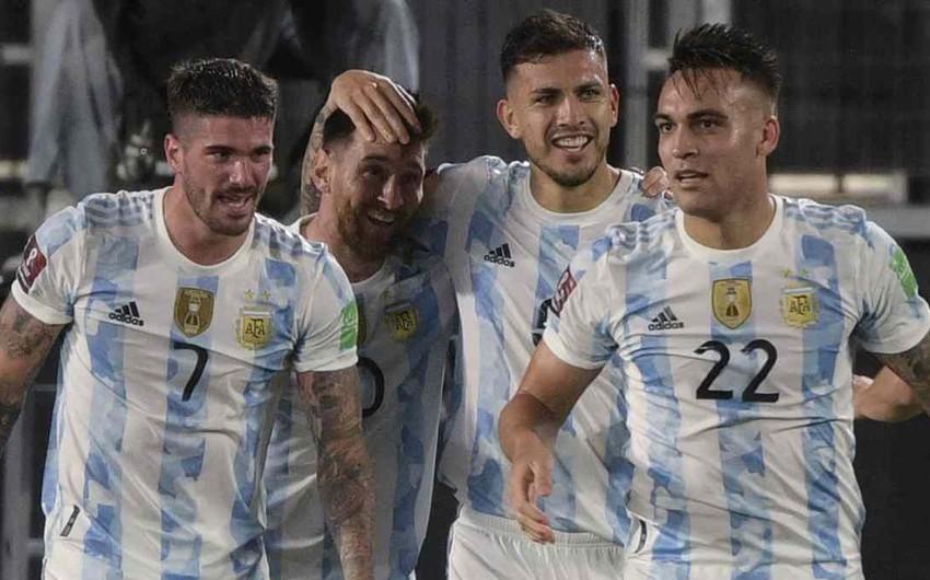 DÇ-2022: Argentina qələbə qazanıb, Braziliya heç-heçə edib