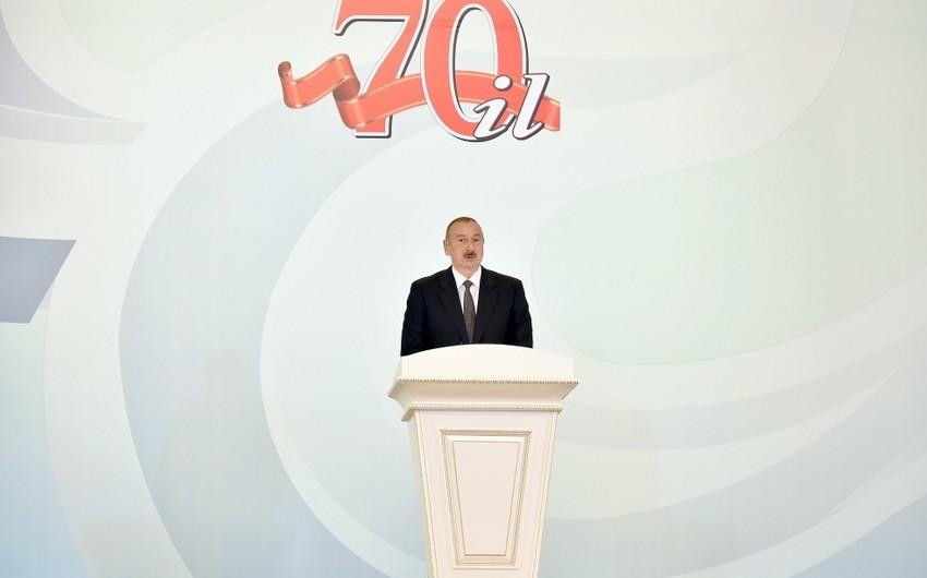 """İlham Əliyev: """"Sumqayıtda qazlaşdırmanın səviyyəsi 100%-ə çatıb"""""""