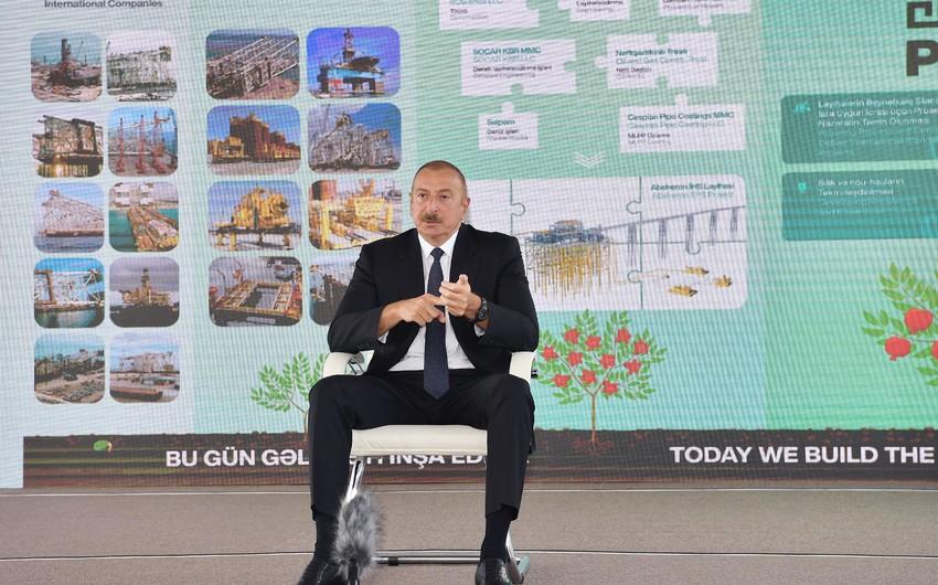 Prezident: Əgər biz vaxtilə müstəqil ölkə olsaydıq, Azərbaycan dünyanın ən zəngin ölkəsinə çevrilə bilərdi