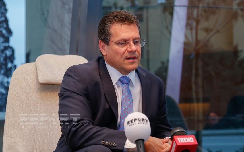 Maroş Şevçoviç: Cənub qaz dəhlizi layihəsi Avropa İttifaqı üçün prioritet məsələdir