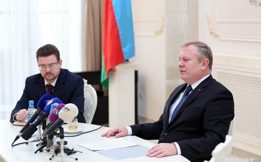 Səfir: Belarus Azərbaycanla müntəzəm dəmir yolu əlaqəsi qurmağı planlaşdırır