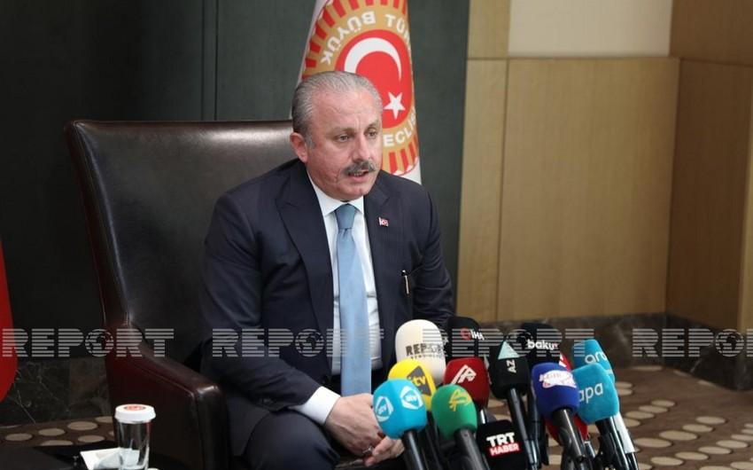 Türkiyə parlamentinin sədri Ermənistanın atəşkəsi pozmasına münasibət bildirib