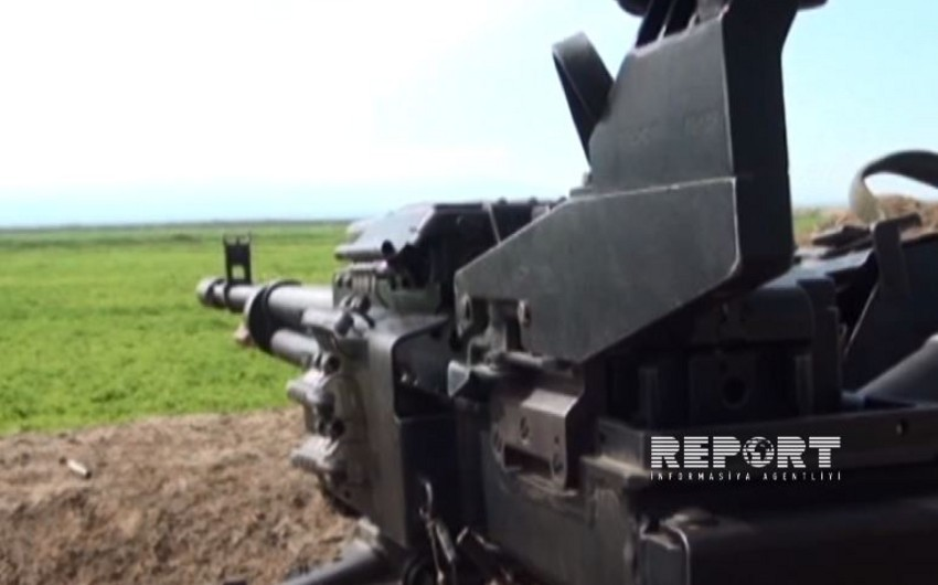 MN: Ermənilər Azərbaycan ordusunun mövqelərini iriçaplı pulemyotlardan atəşə tutub