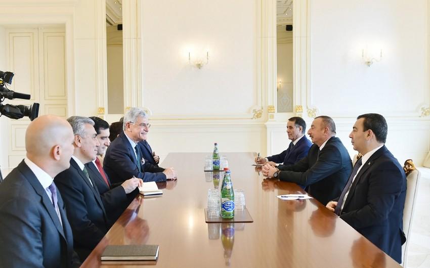 President Ilham Aliyev receives Turkish Grand National Assembly delegation