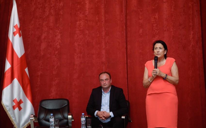 """Salome Zurabişvili: """"Gürcüstanda işsizlik çox yüksək səviyyədədir"""""""