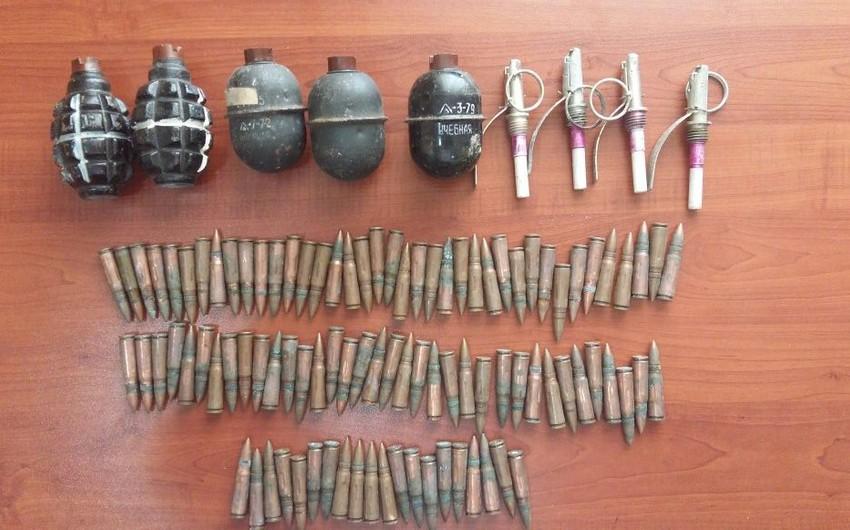 Siyəzəndə məişət tullantıları ərazisində silah-sursat tapılıb